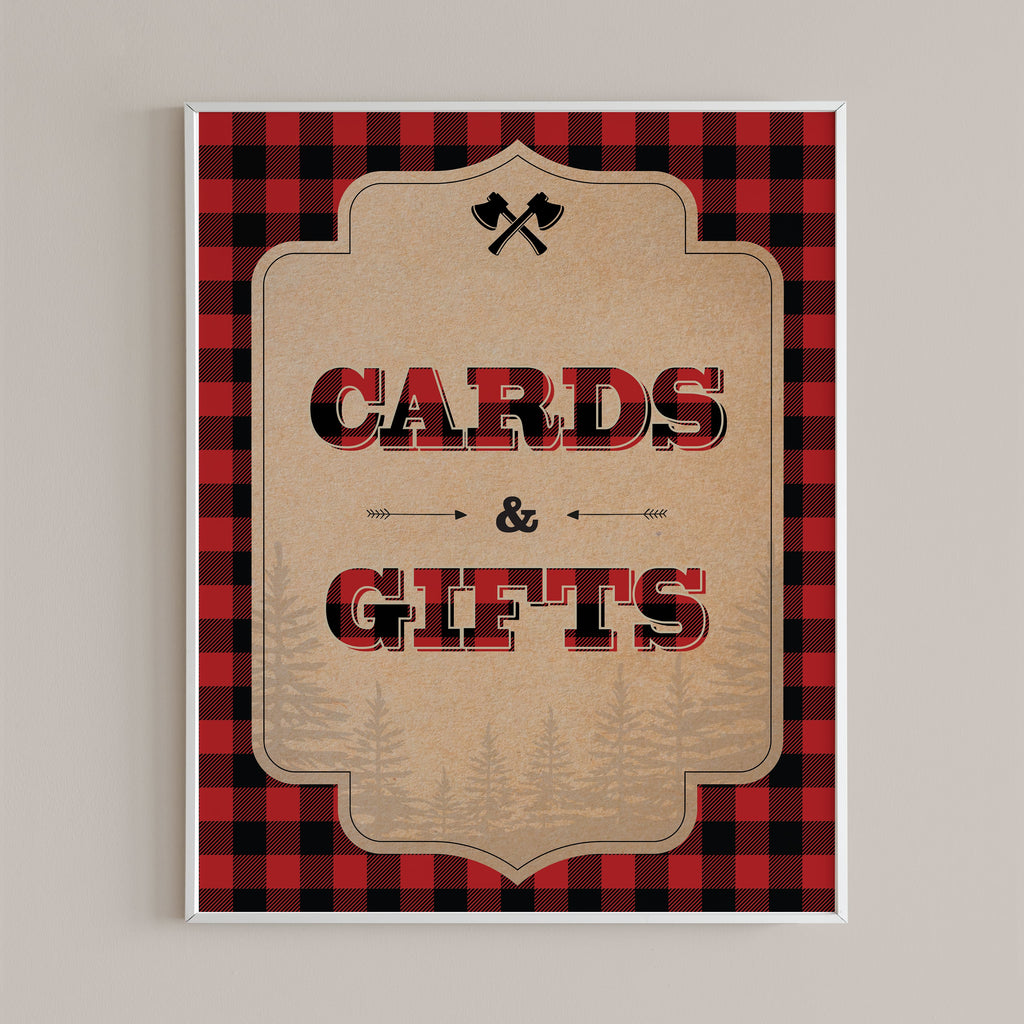 Cards & gifts table sign printable rustic by LittleSizzle