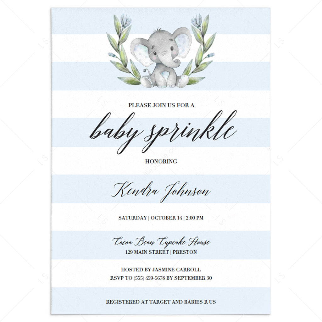 Boy baby sprinkle invitation template by LittleSizzle