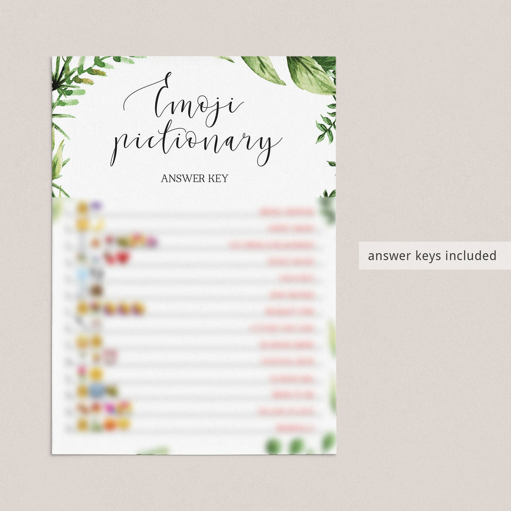wedding emoji pictionary printables