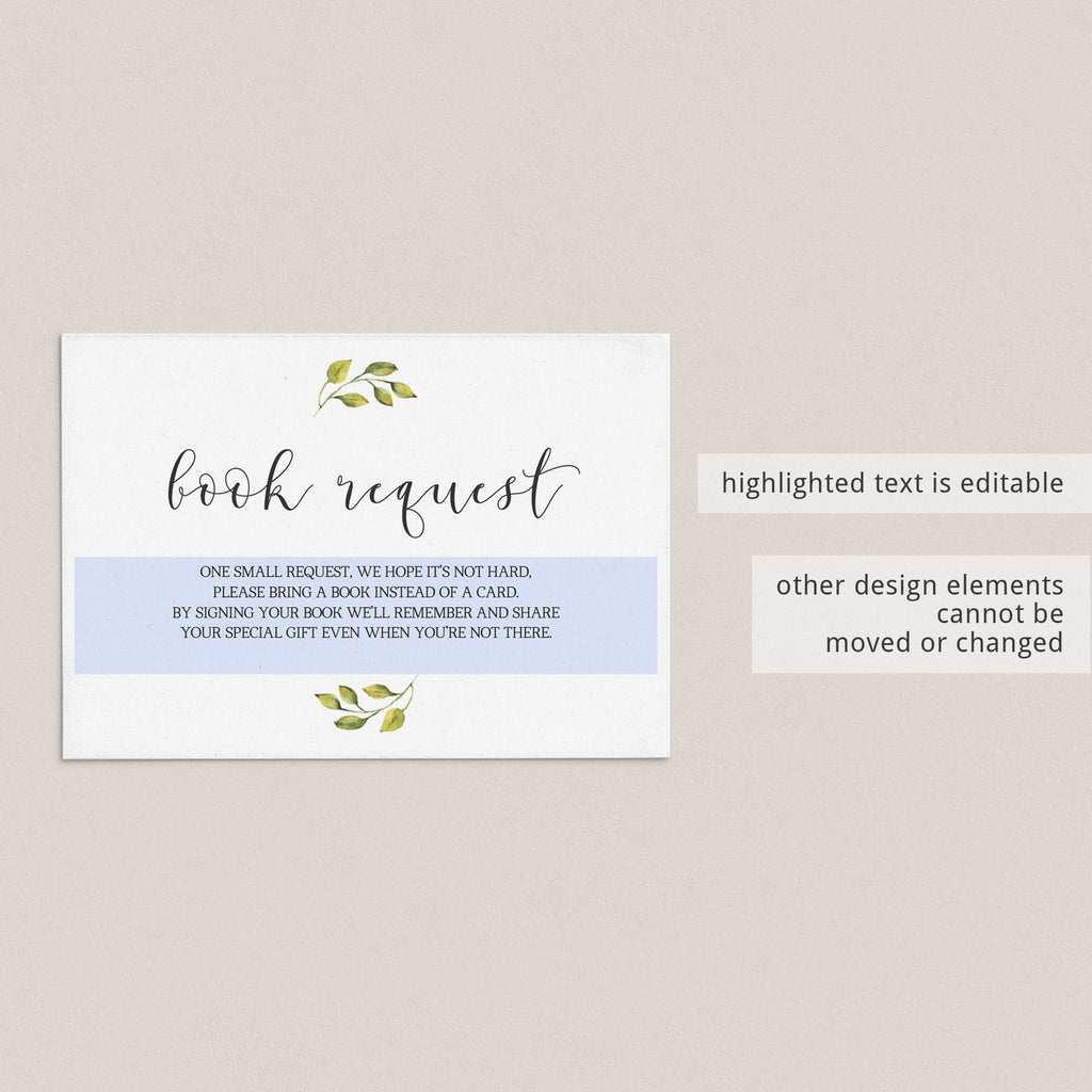 Baby Library Cards for Greenery Baby Shower Printable