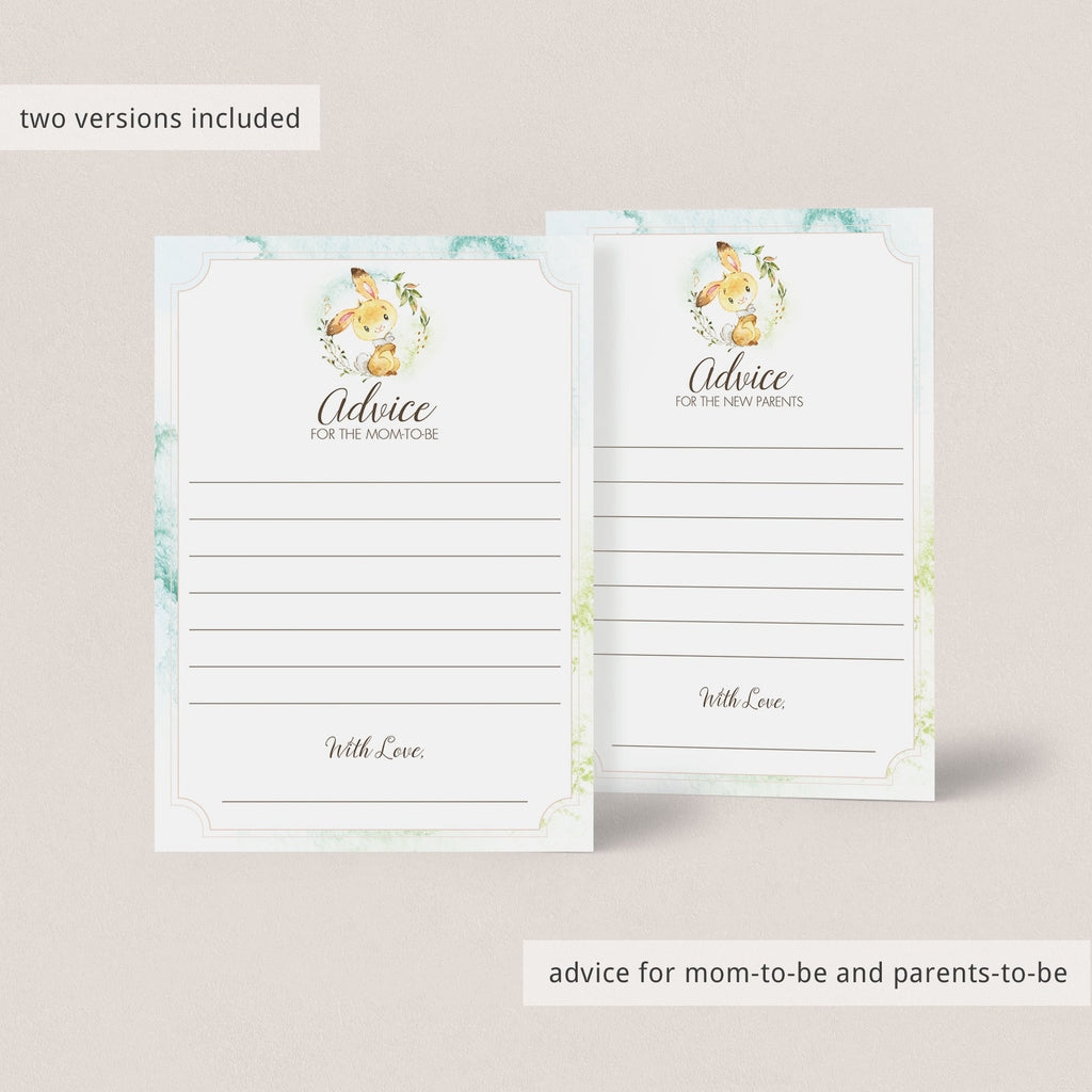 Forest animals baby advice cards for neutral shower by LittleSizzle