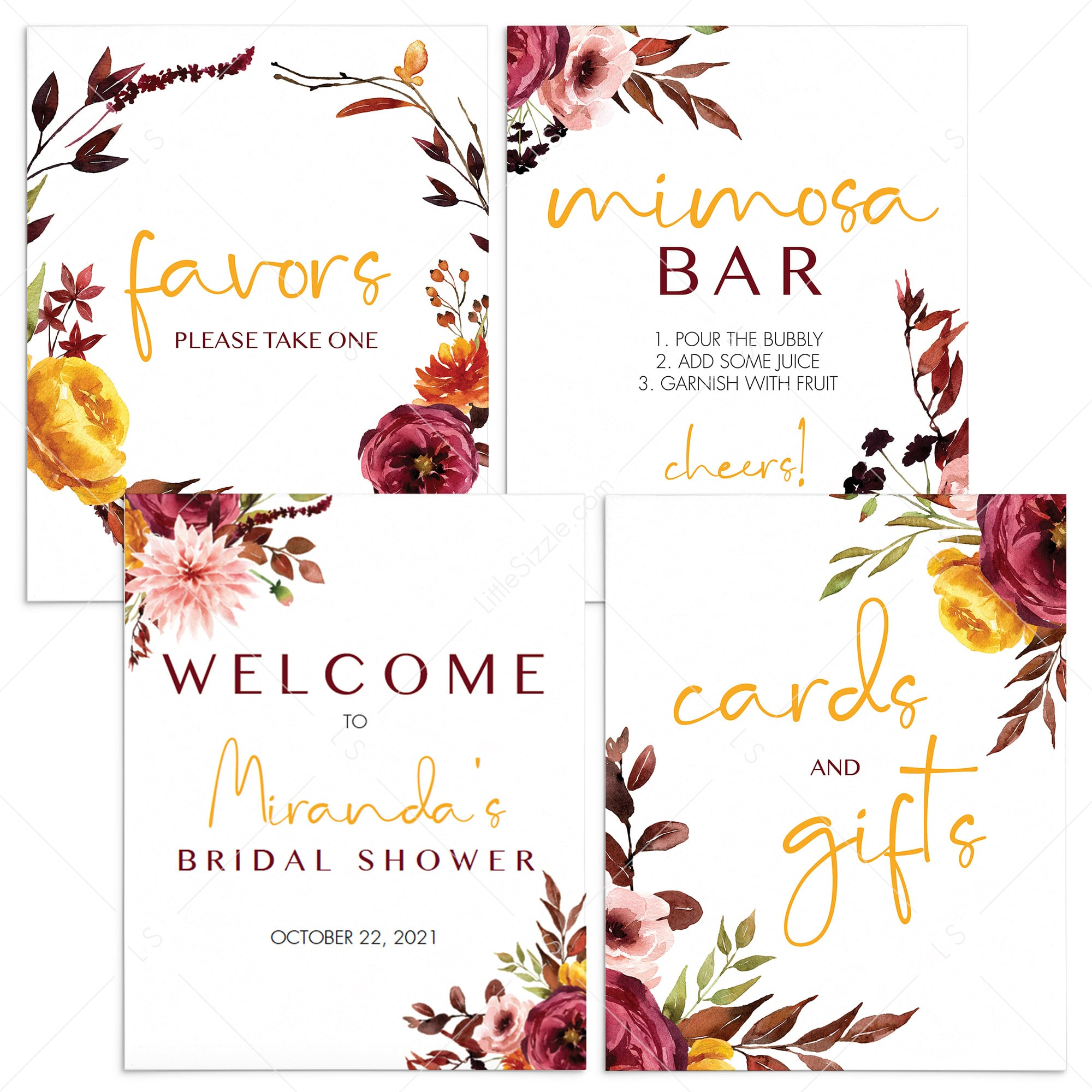 Welcome Bridal Shower Sign Printable Burgundy Bridal Shower Sign Pertaining To Bridal Shower Banner Template