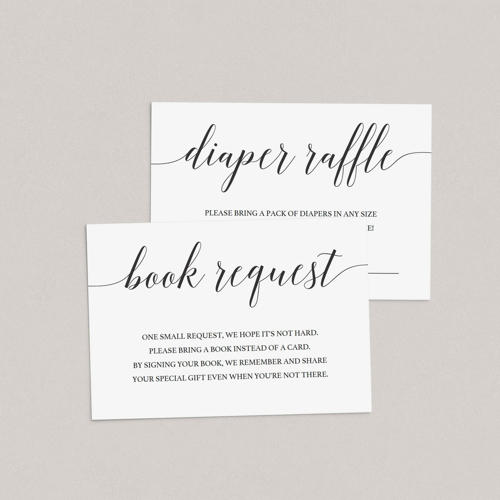 Printable Baby Sprinkle Invitation Set with Calligraphy Font