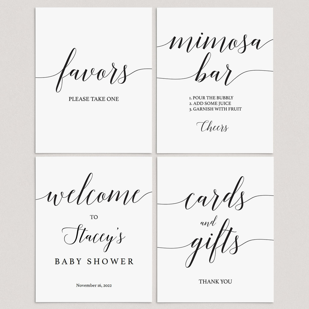 Minimalist baby shower decor package by LittleSizzle