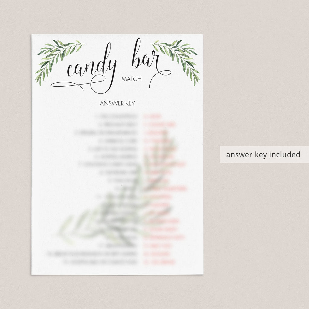 Candy Bar Game Printable for Neutral Baby Shower
