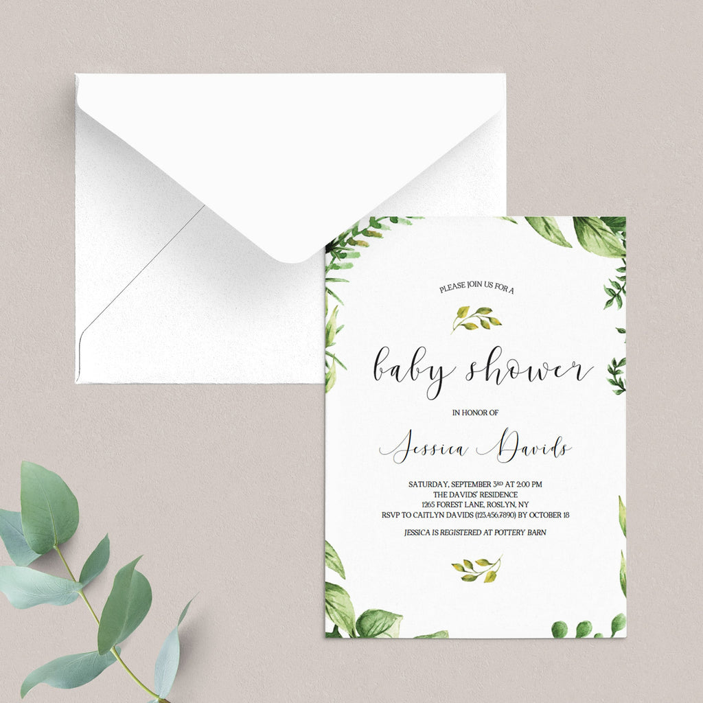 Classic baby invitation DIY template by LittleSizzle