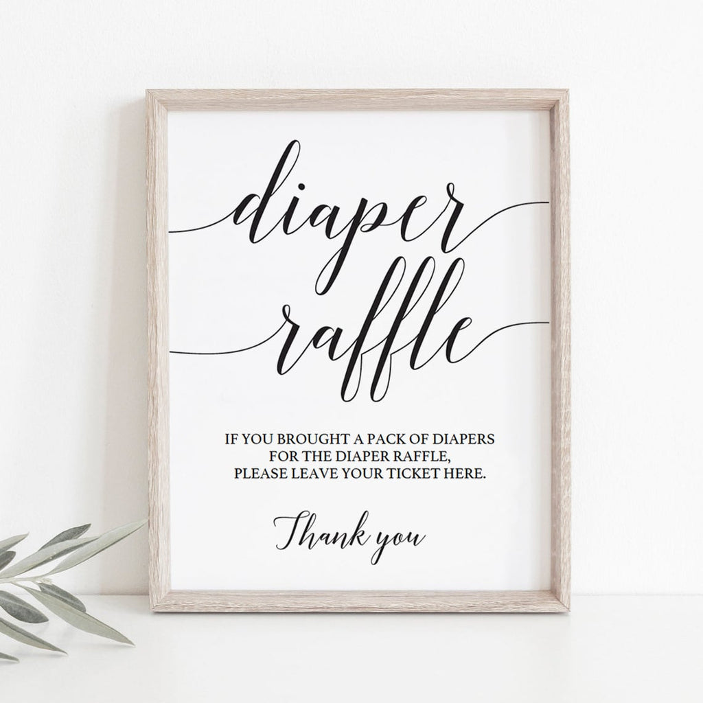 Diaper raffle sign template download by LittleSizzle