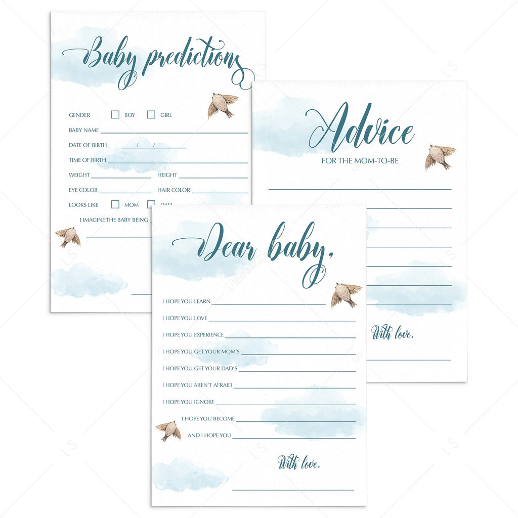 Air baby shower games printable by LittleSizzle