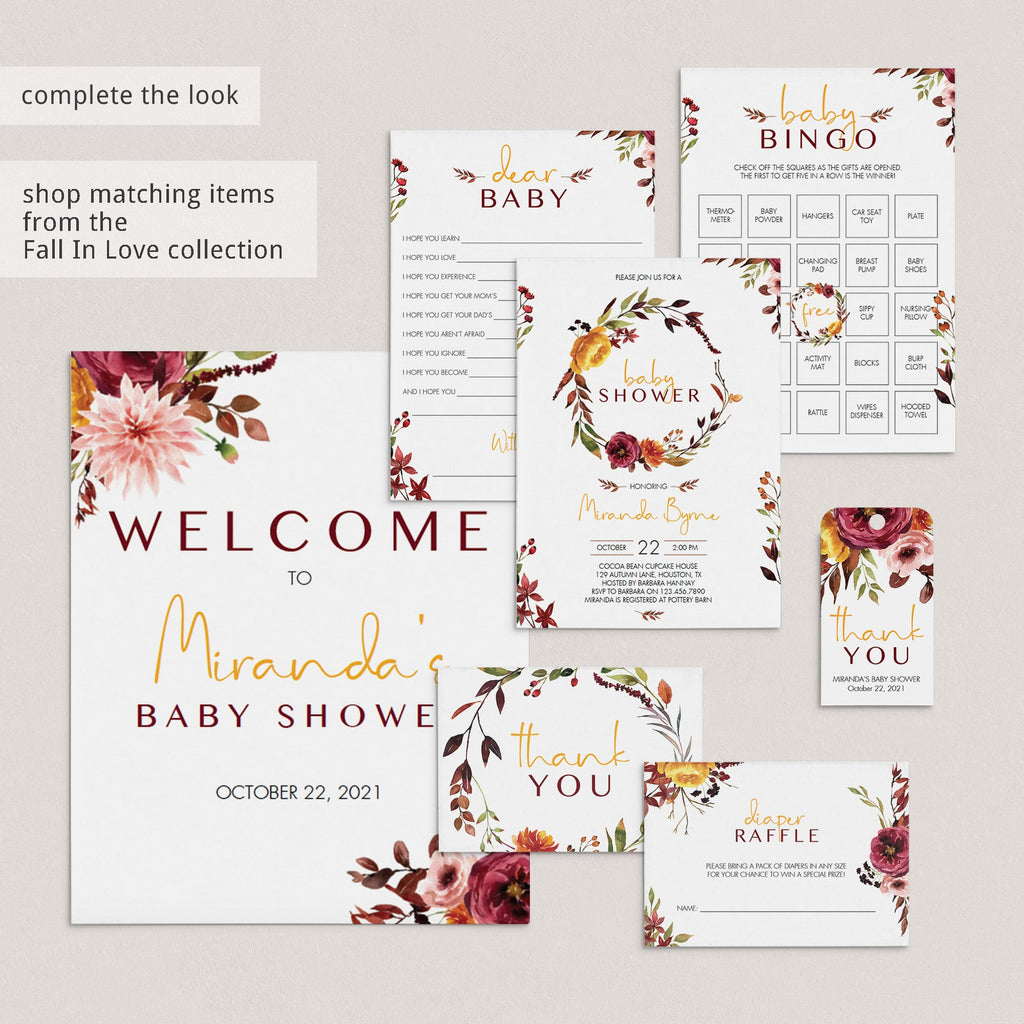 Download fall baby shower table decorations by LittleSizzle