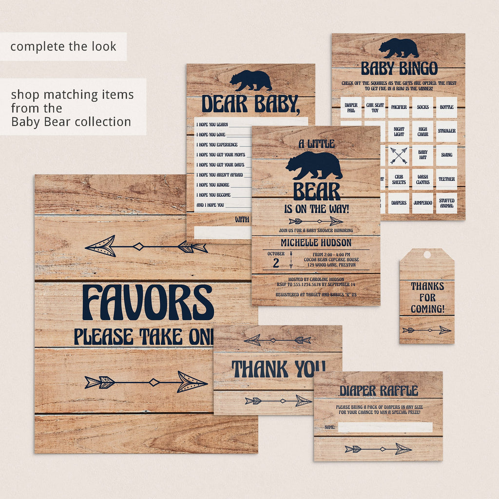 Printable Party Supplies Rustic