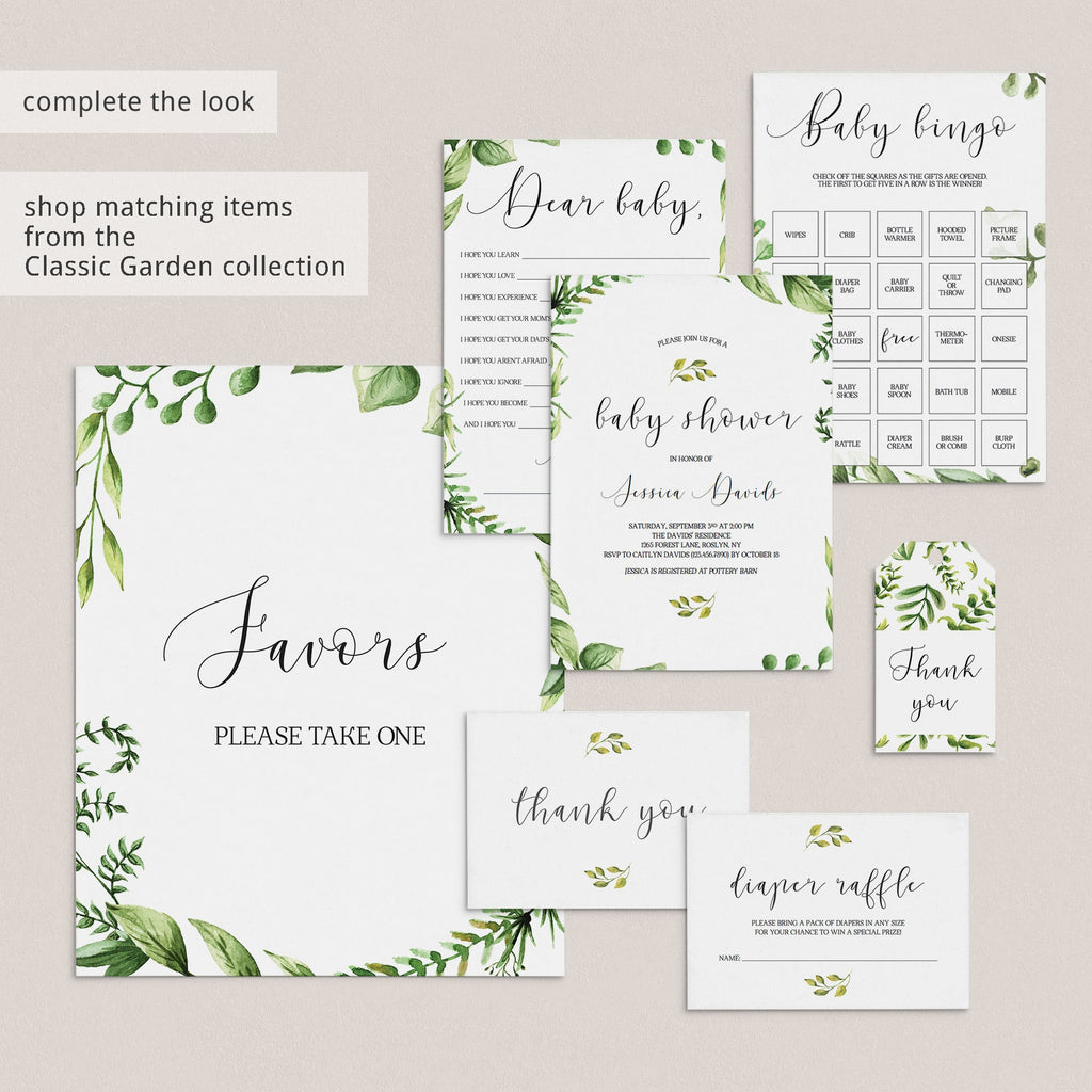 Botanical Party Printable Package