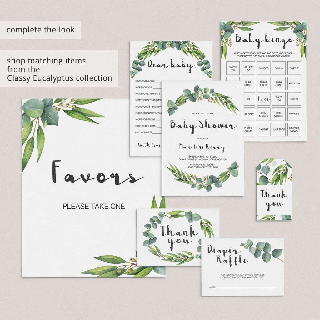 Botanical babyshower printables games  by LittleSizzle