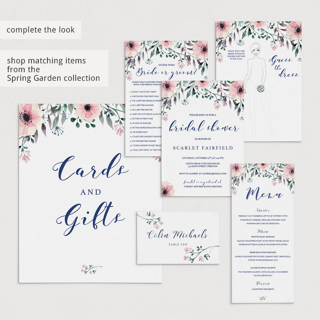 Blush Bridal Shower Games Would She Rather Printable