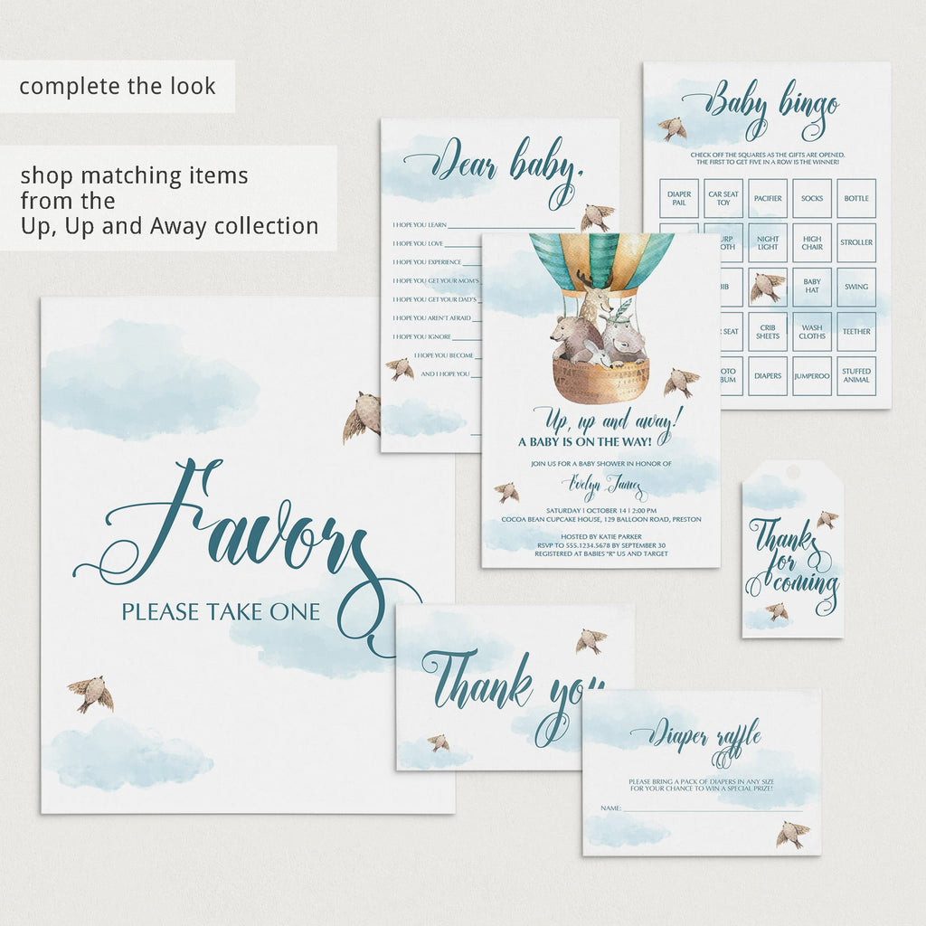 Blue clouds baby shower ideas by LittleSizzle