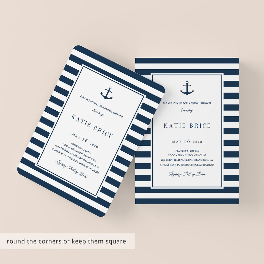 diy bridal shower invitations editable templates