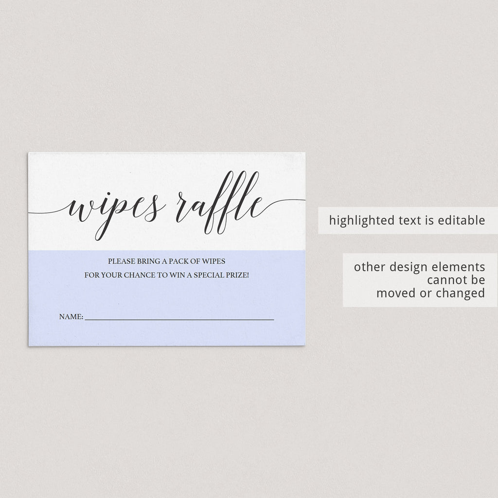 Diaper raffle ticket template wet wipes by LittleSizzle