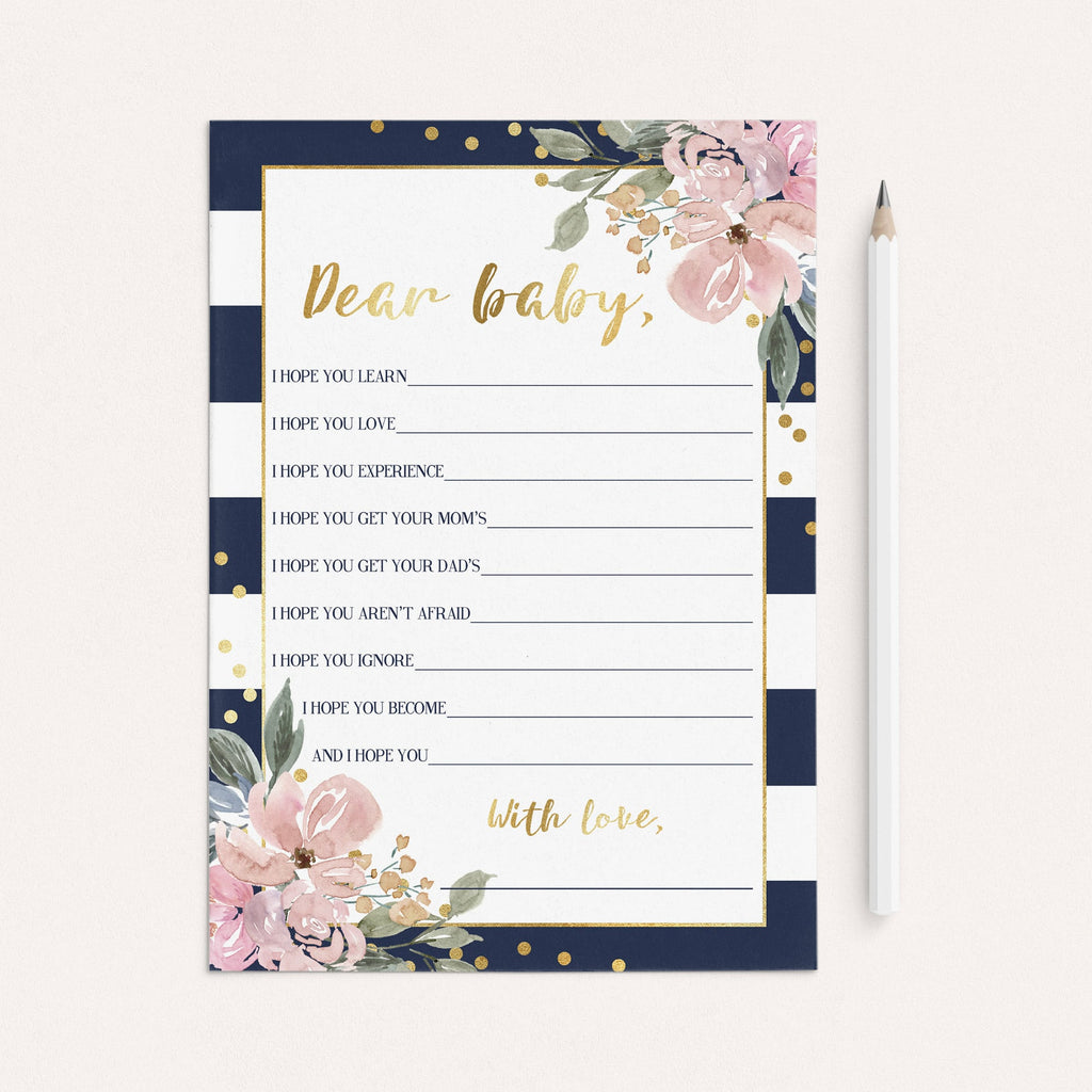 Navy and Gold Printable Baby Shower Games