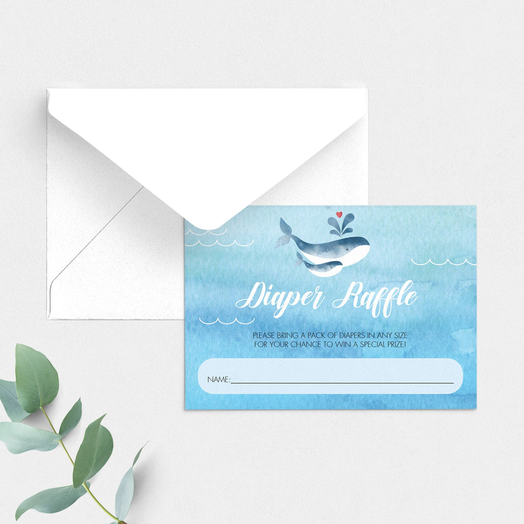 Instant download diaper raffle cards for boy shower by LittleSizzle