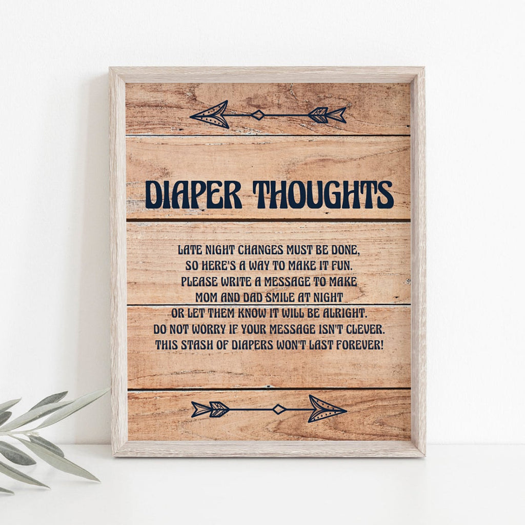 Woodland baby shower diaper thoughts game by LittleSizzle