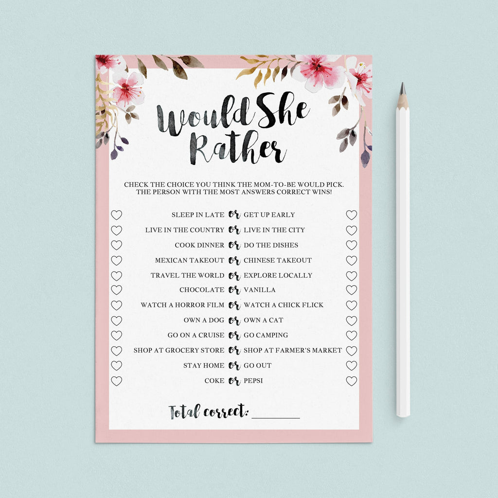 Blush baby shower game would she rather download files by LittleSizzle