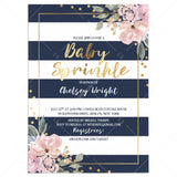 Kate Spade Baby Sprinkle Invitation Template Instant Download