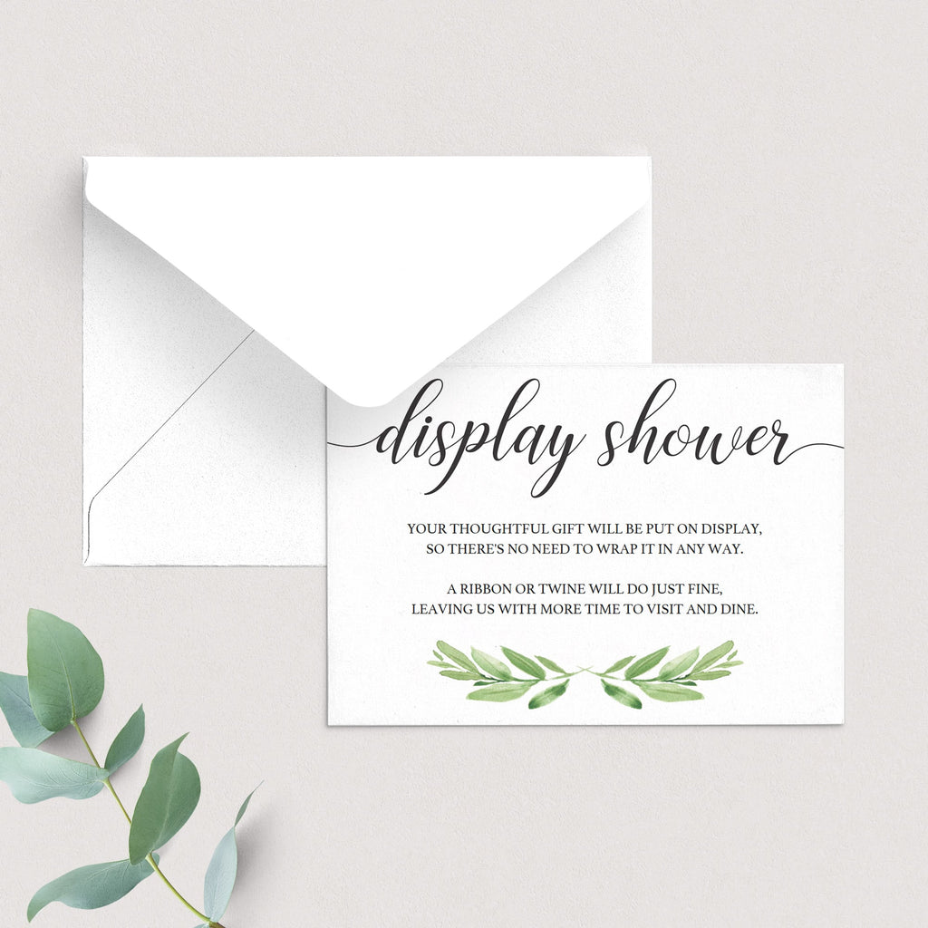 Display shower insert cards by LittleSizzle
