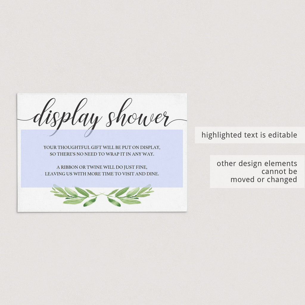 DIY display shower insert cards by LittleSizzle