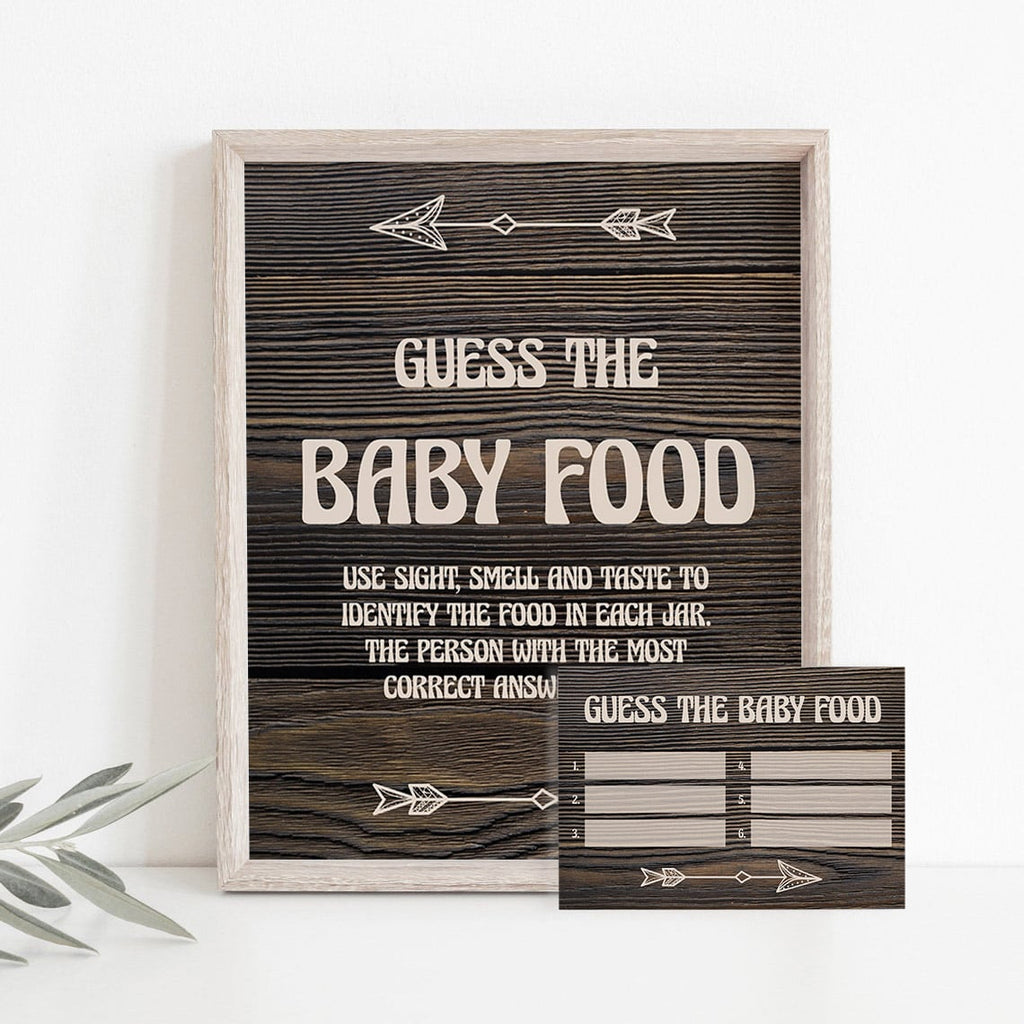 Name that baby food baby shower game rustic theme by LittleSizzle