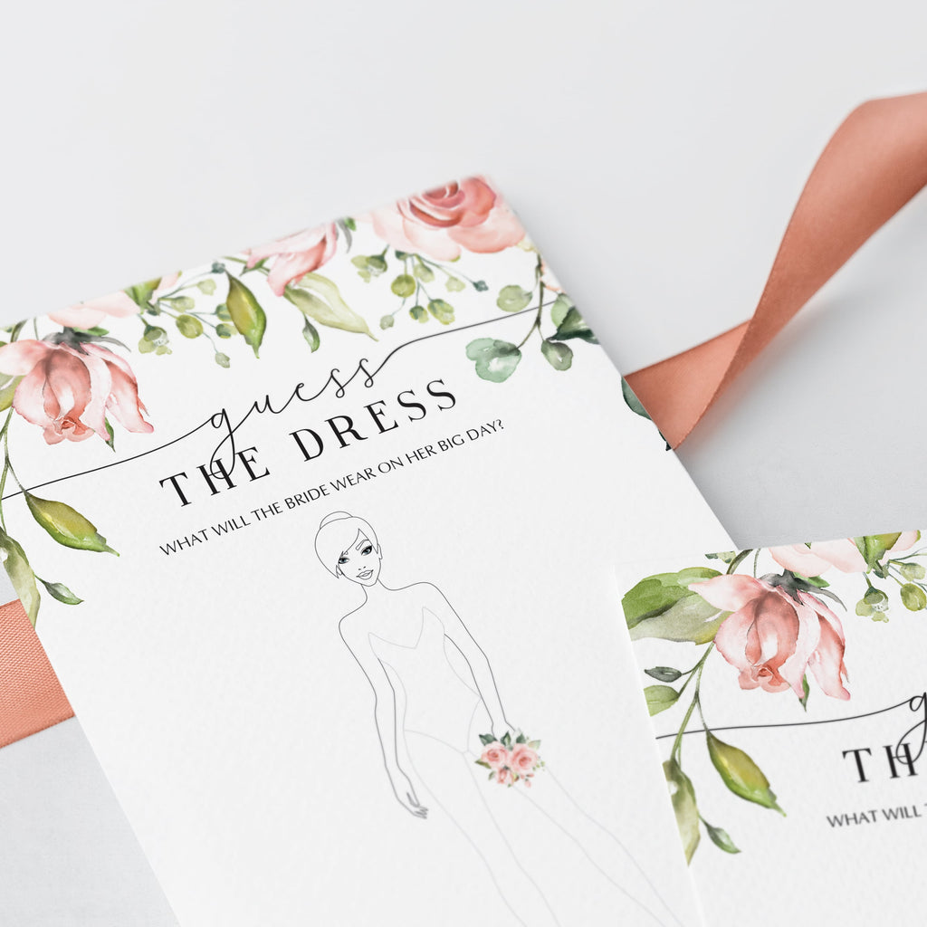 draw the dress wedding shower game instant download