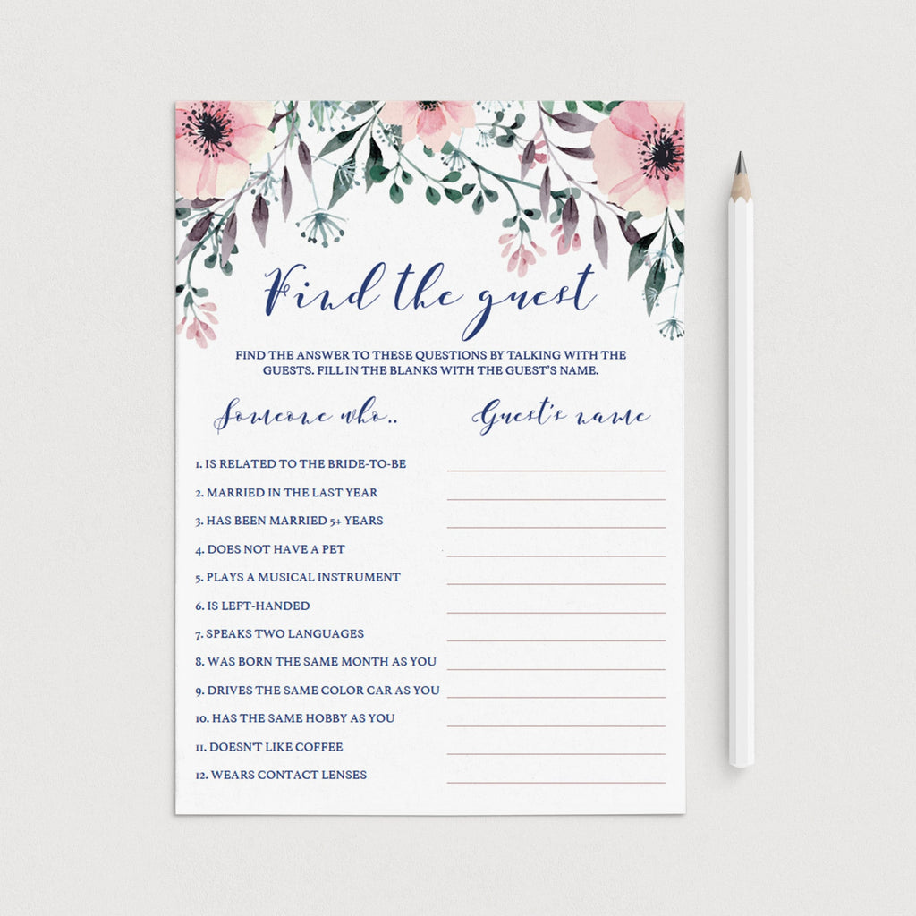 Find the Guest Bridal Shower Games Printable by LittleSizzle