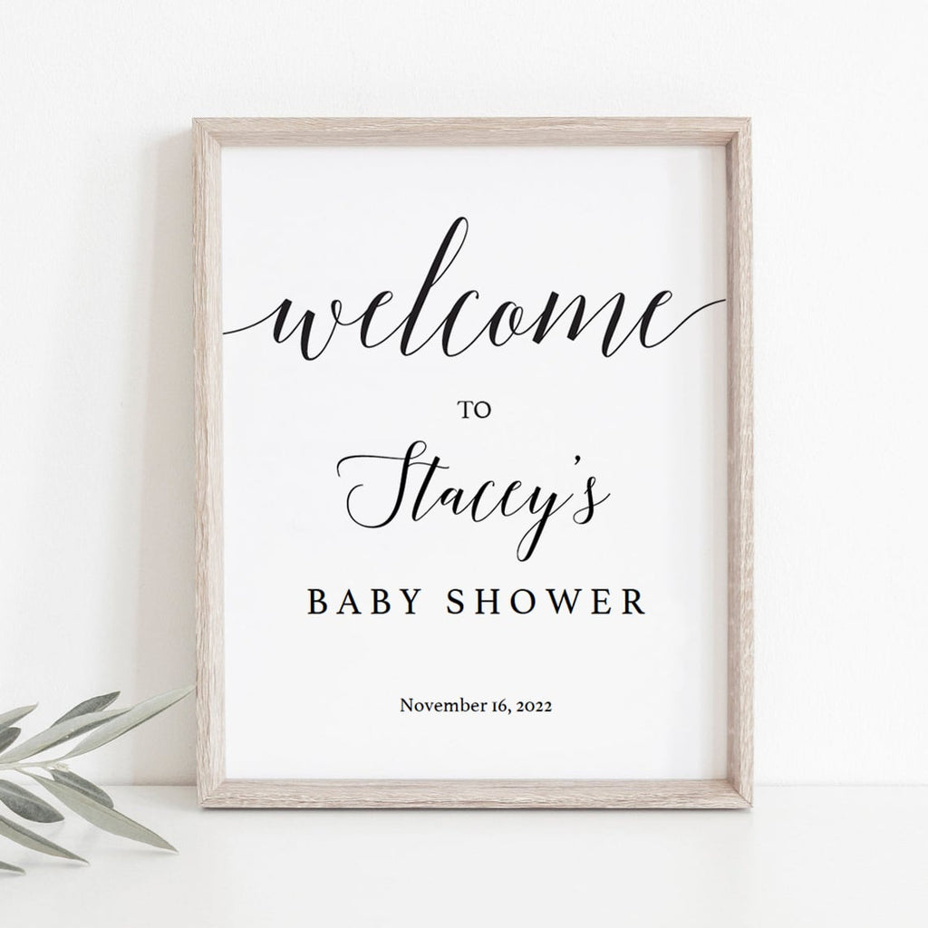 Editable baby shower welcome to sign template  by LittleSizzle