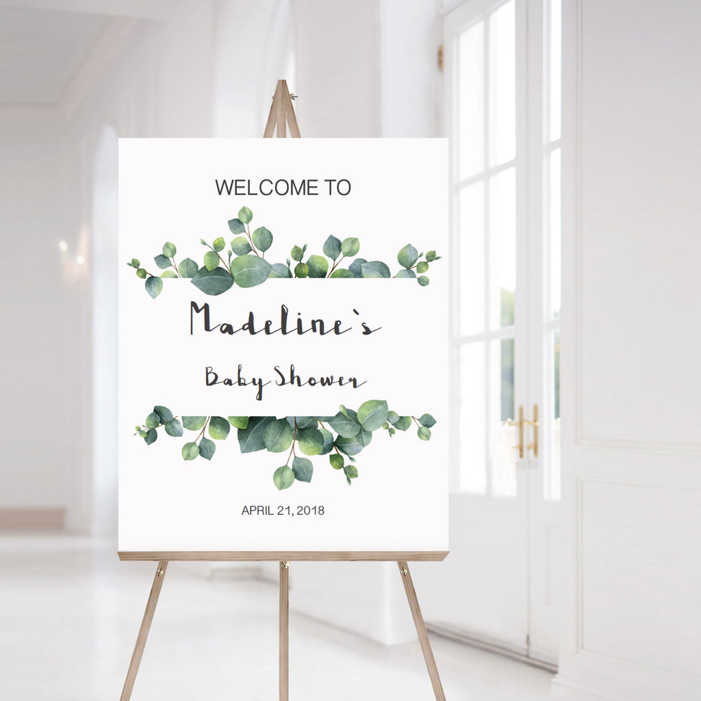 Large printable welcome sign for baby shower gender neutral by LittleSizzle
