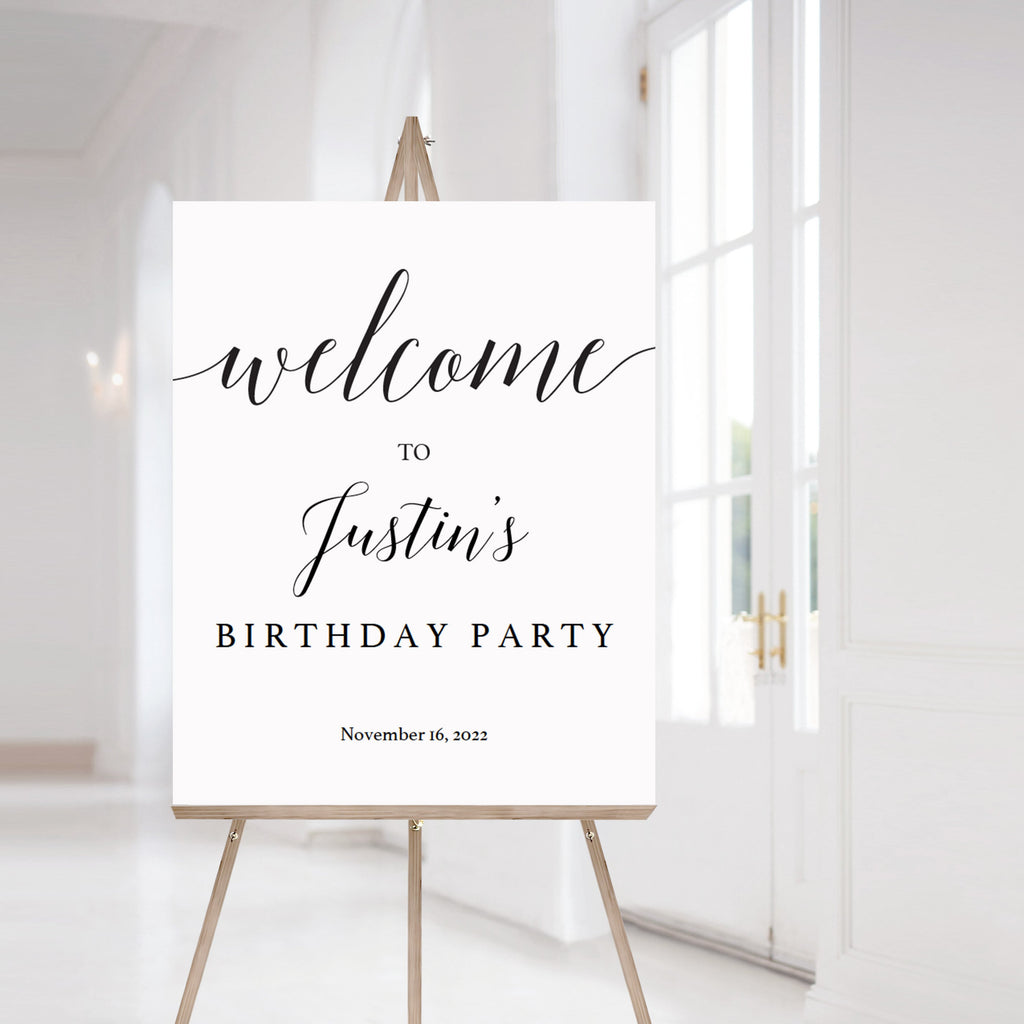 Printable birthday party decorations welcome sign template by LittleSizzle