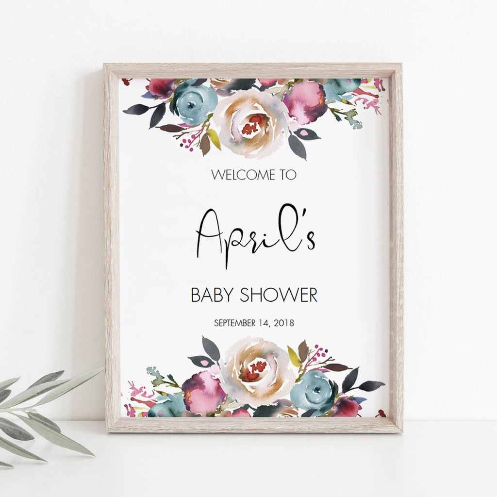 Template for shower welcome sign by LittleSizzle
