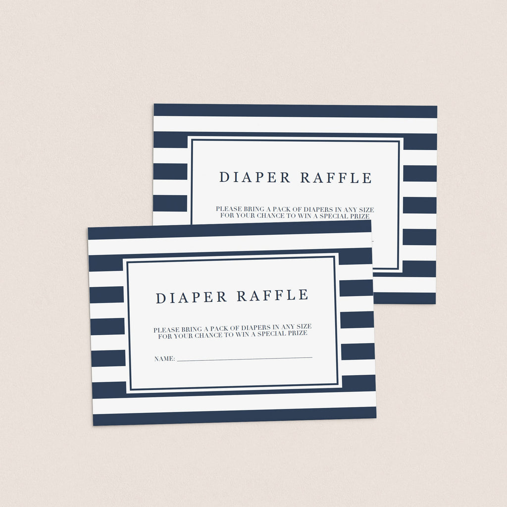 Printable diaper raffle cards by LittleSizzle