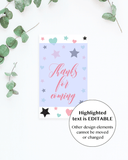Editable favor tag template for girls by LittleSizzle