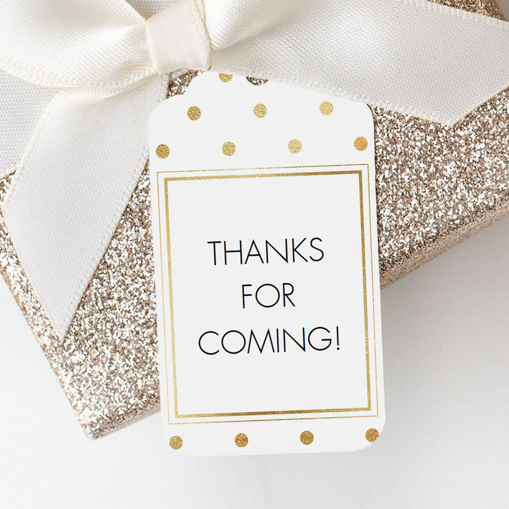 Thanks for coming favor tags template gold by LittleSizzle