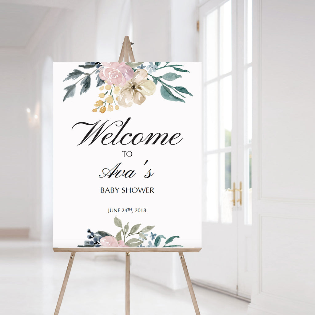 Whimsical shower welcome sign printable by LittleSizzle