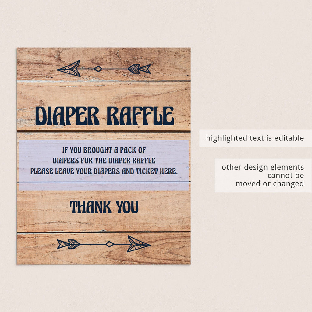 Diaper raffle template for forest shower by LittleSizzle