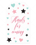 Girl baby shower favor tag template by LittleSizzle