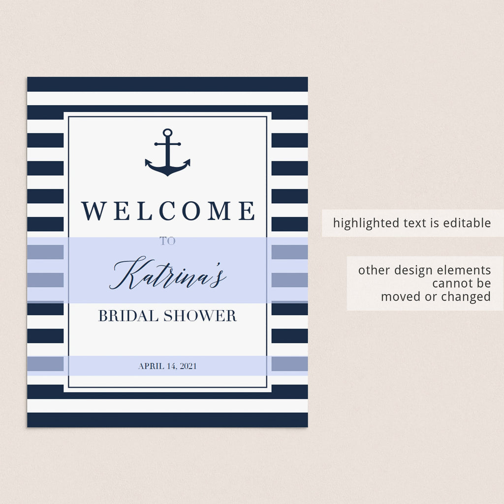personalized welcome sign bridal shower table signs