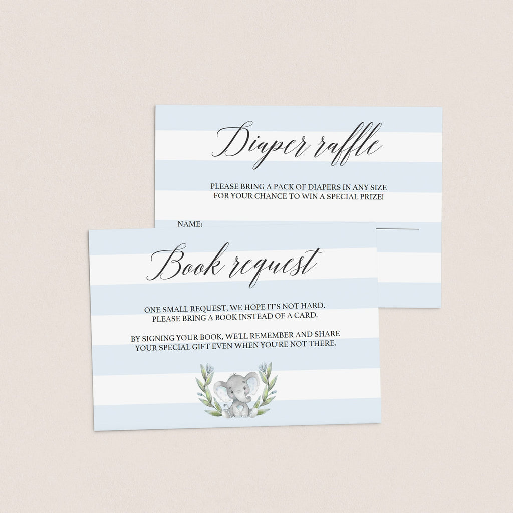Watercolor elephant baby sprinkle invite template by LittleSizzle