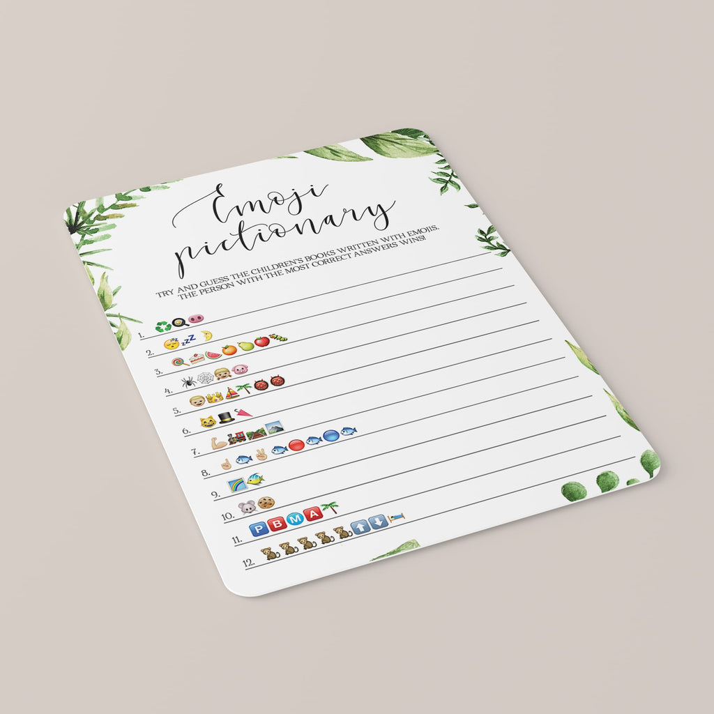Childrens Books Emoji Pictionary Baby Shower Game Printable
