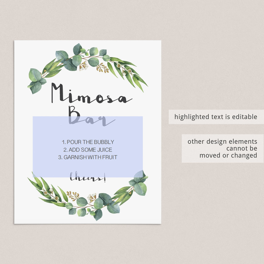 Botanical Baby Shower Sign Bundle Printable
