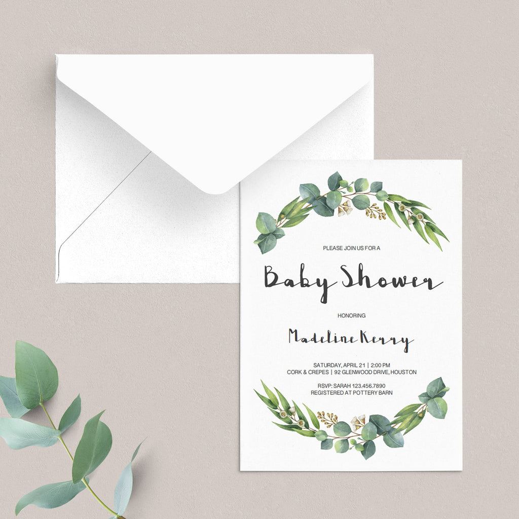 Gender Neutral Baby Shower Invitation Set