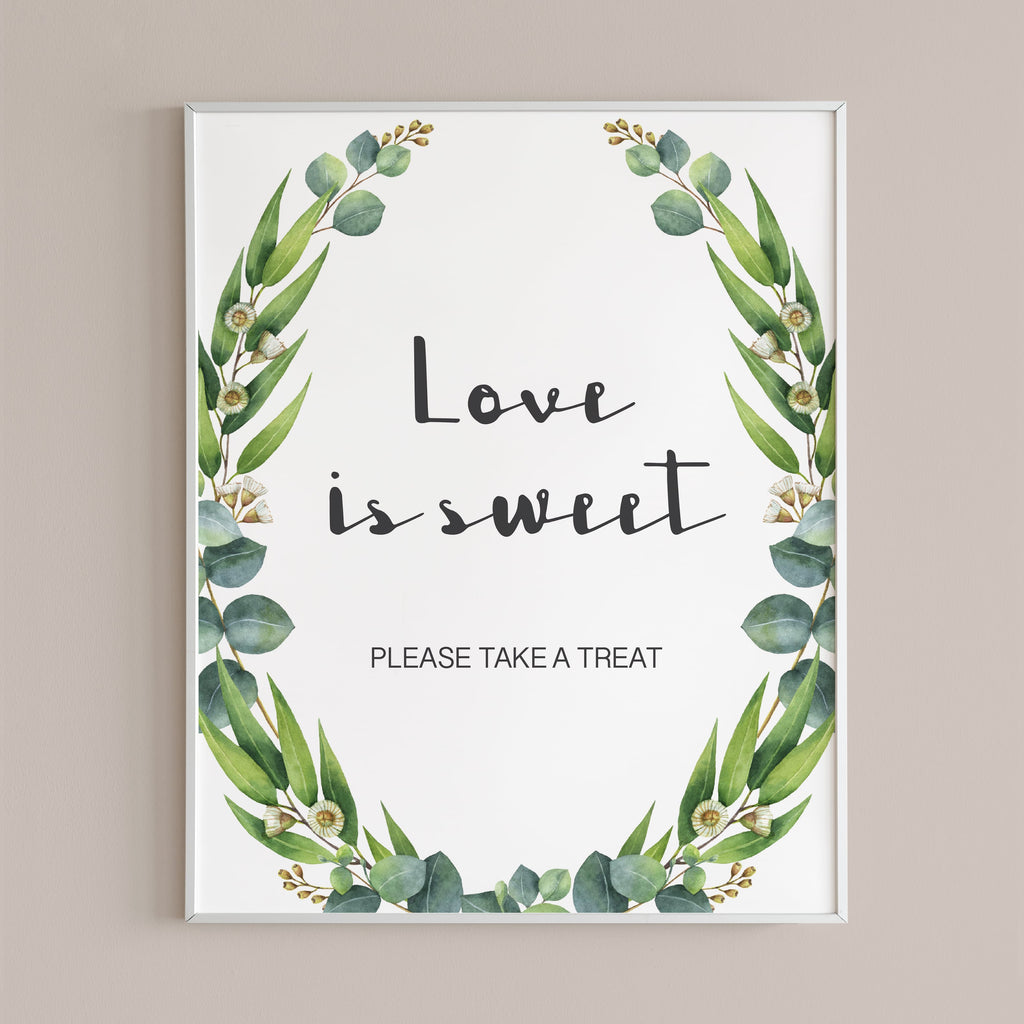 wedding favors sign instant download