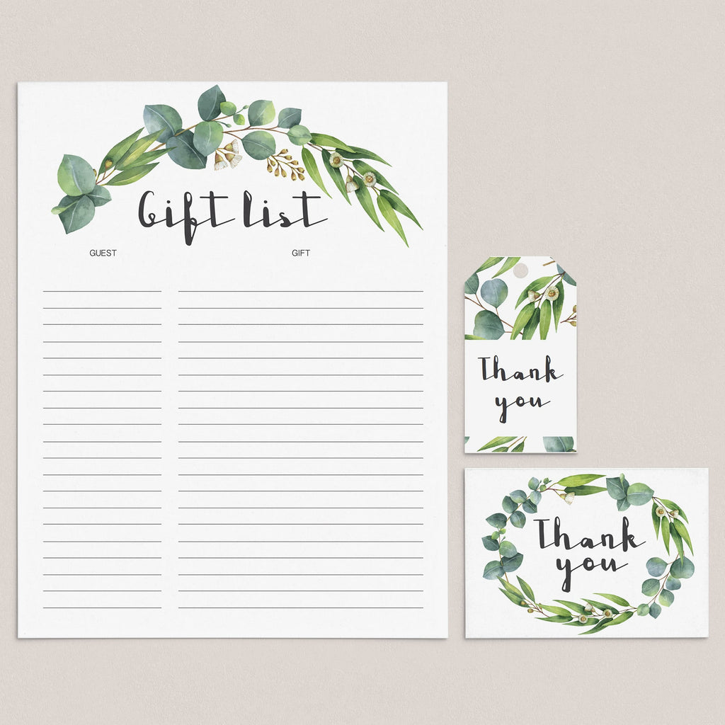 Green Party Supplies Bundle Instant Download