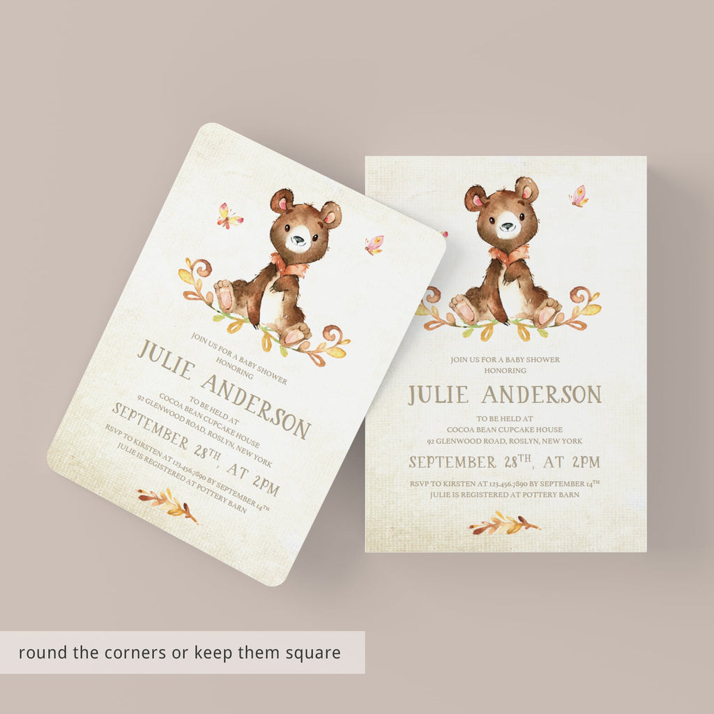 Editable baby shower invitation gender neutral by LittleSizzle