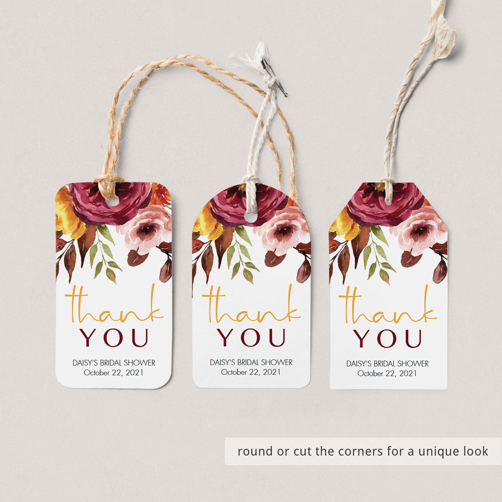 DIY bridal shower thank you labels printable by LittleSizzle