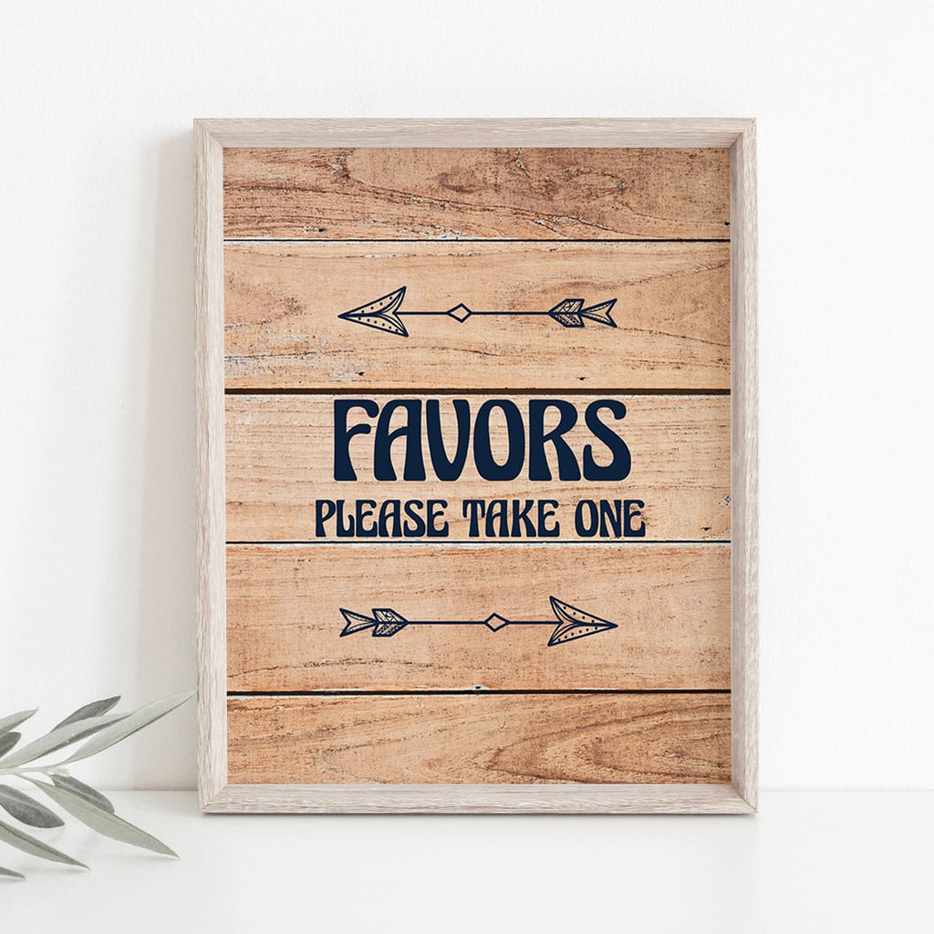 Forest woods party favors sign printable by LittleSizzle
